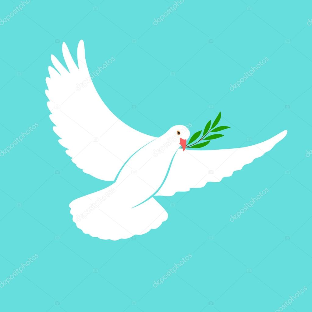 White dove vector icon with olive branch peace symbol pigeon peace symbol pigeon isolated logo white flying bird emblem flat dove sign international day of peace poster template with white dove olive biocorpaavc