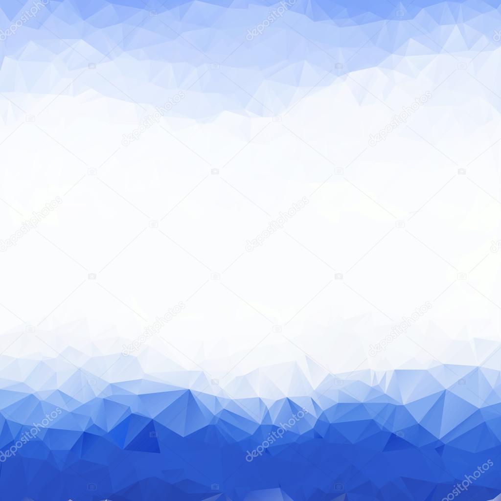 Abstracto colores triángulo geométrico azul de fondo, Vector ...