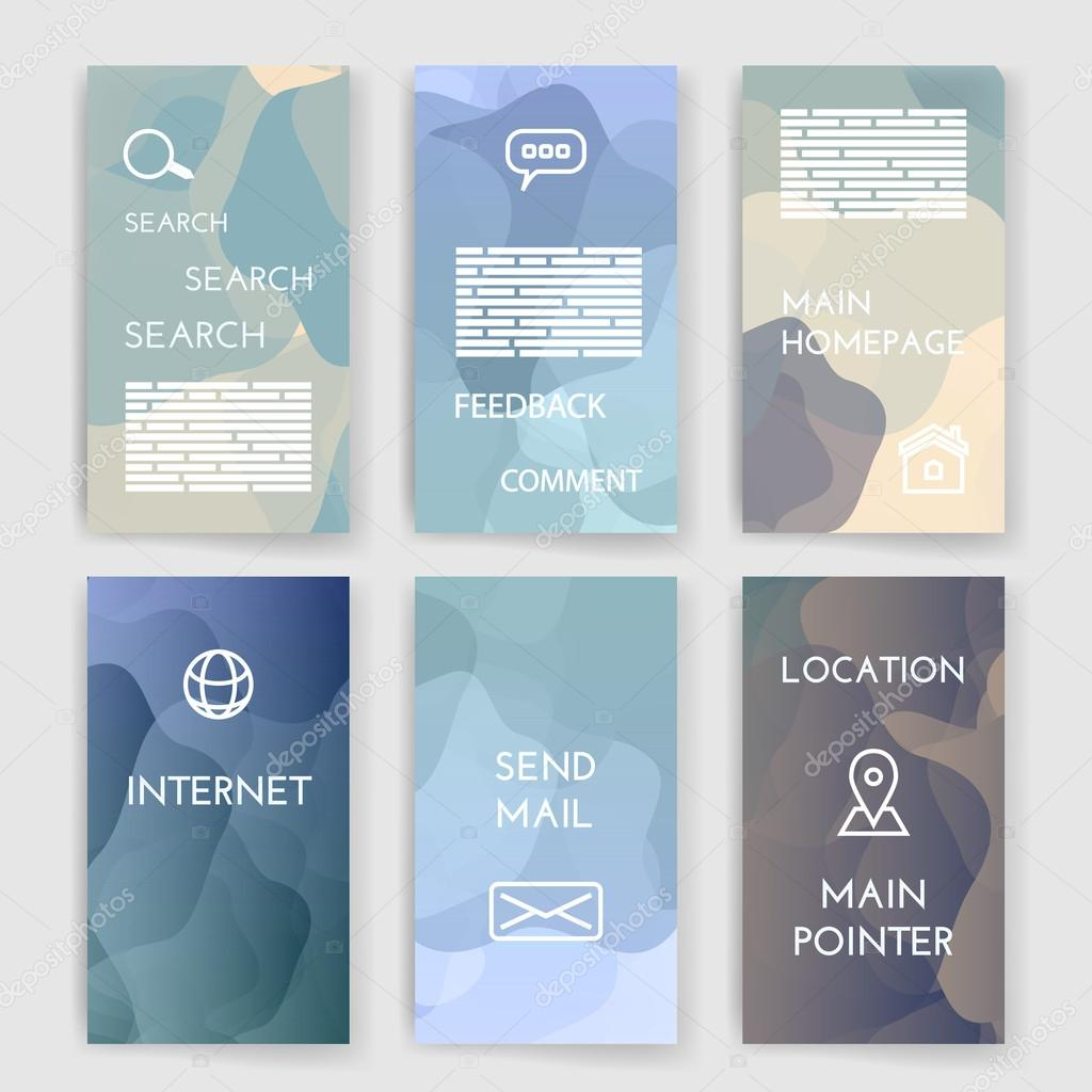 Poster design app - Set Of Poster Flyer Brochure Design Templates With Map Location Mail Internet