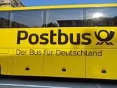 Trenér autobus Scania Omniexpress Postbus v Chemnitz