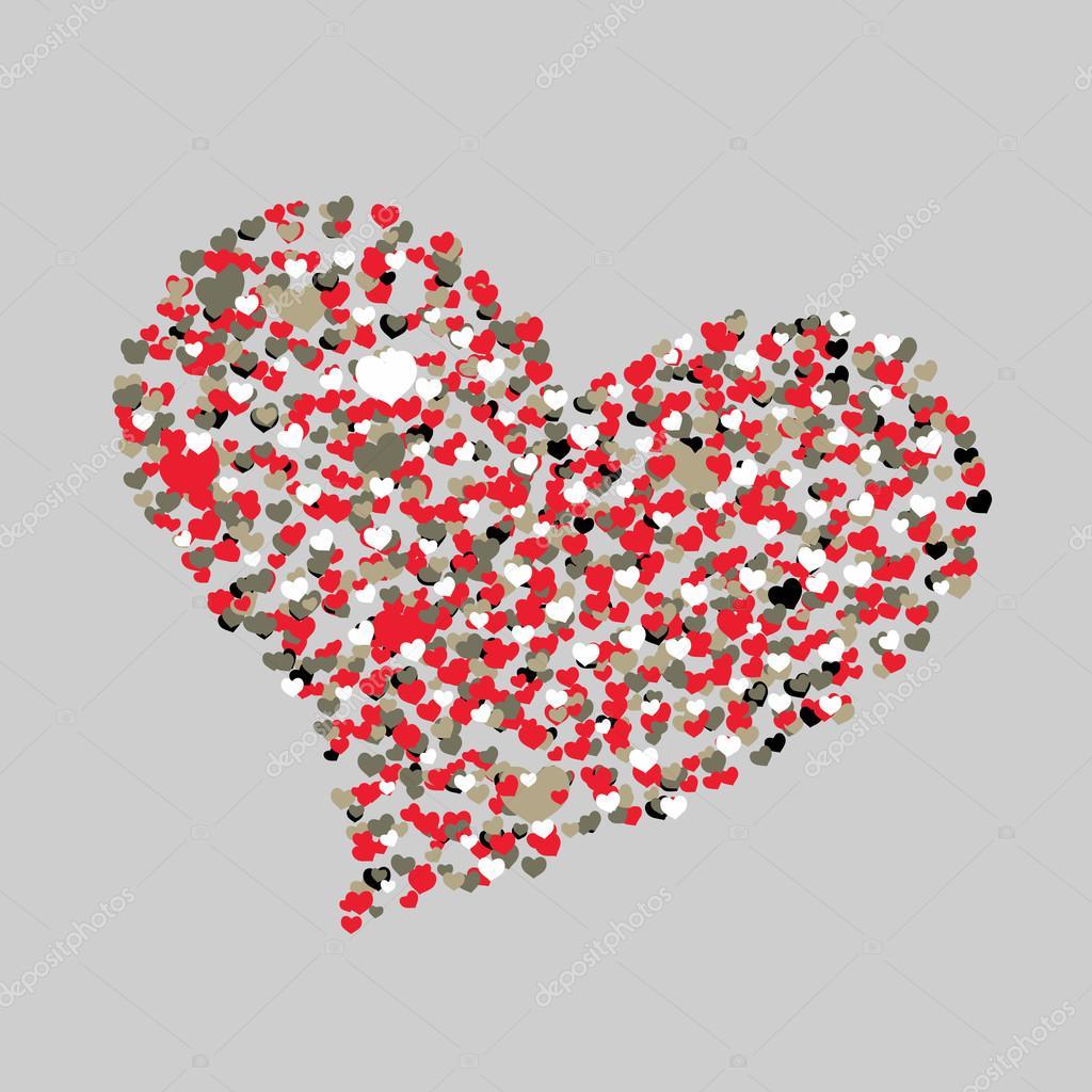 Corazones de colores. Feliz día de San Valentín de fondo. Resumen ...