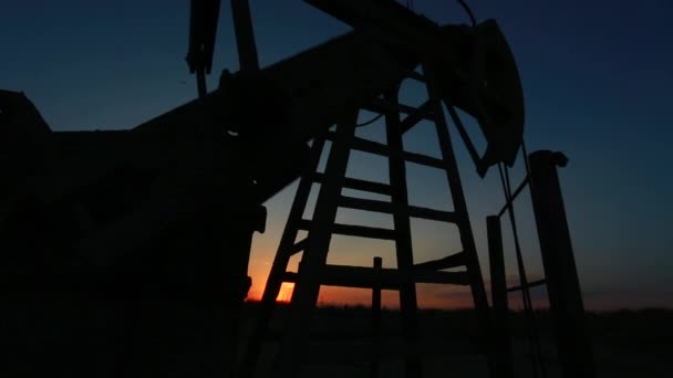 Drilling of the well. Kind from a top of rig.Oil and gas industry. Work of old o