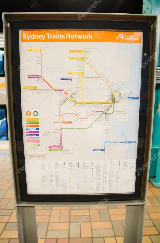Sydney Züge Netowrk Rail anzeigen — Redaktionelles Stockfoto ...