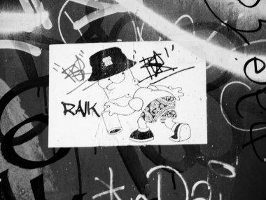 Bart Simpson Street Art Sticker