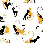 Pattern with kitten