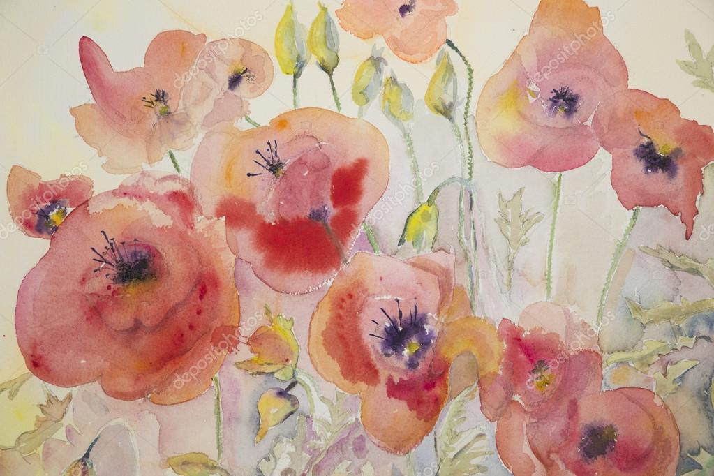 Naive poppies.
