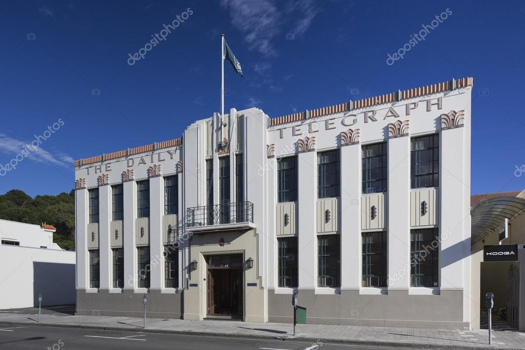 c57da37c42d Daily Telegraph Building em Napier — Stock Photo © Vermeulen-Perdaen ...