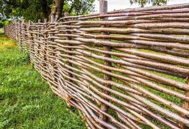rural wicker fence