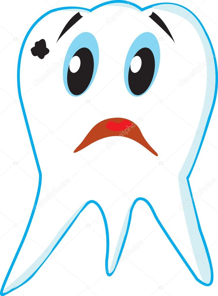 Картинка для детей грустного и веселого зуба, картинки