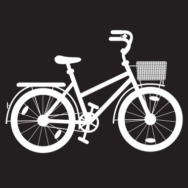 Stencil bicycle for a girl