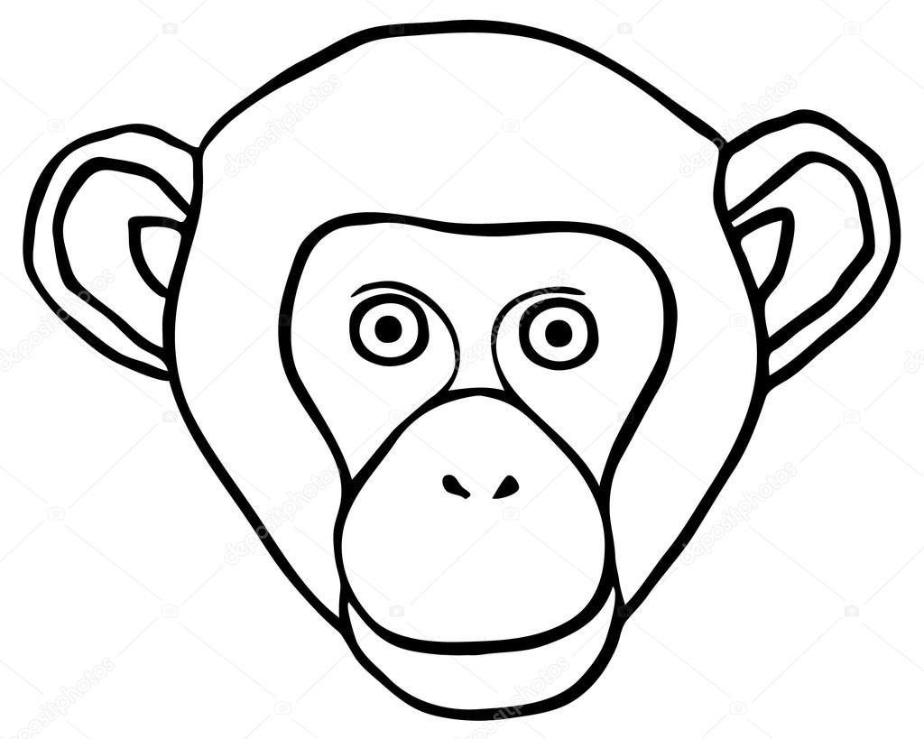 Vector Ornate Monkey Head Stock Vector C Egnismoore 87884324