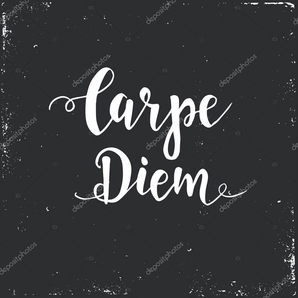 Imágenes Carpe Diem Frases Carpe Diem Frase Latina Vector De