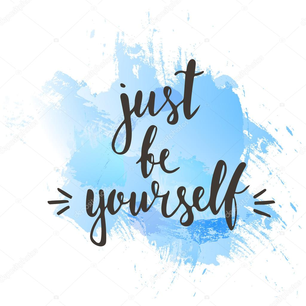 just be yourself typography poster ストックベクター fafarumba