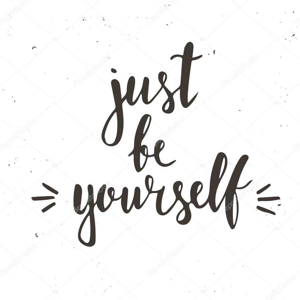 just be yourself typography poster stock vector fafarumba