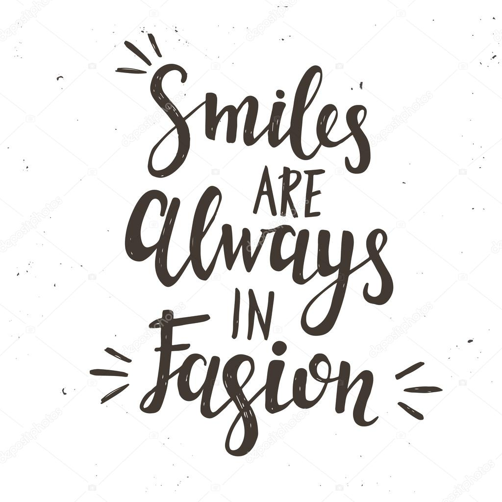 03c071e16cd49c Smiles are Always in Fashion — Stock Vector © Fafarumba  106187066