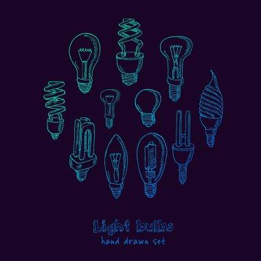 Doodle Set of light bulbs
