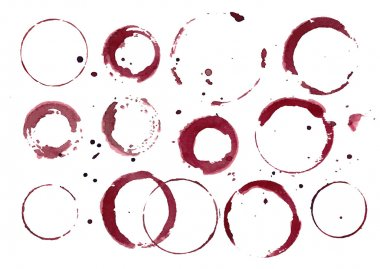 Set of Wine Stains