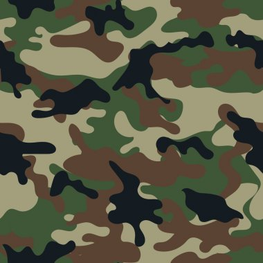 Army military camouflage seamless pattern.Can be used for background design, military textile. stock vector