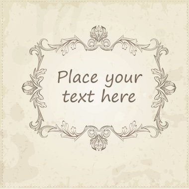 Vector  calligraphic vintage antique and baroque frames.