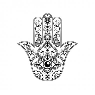 Indian Hand Drawn Hamsa