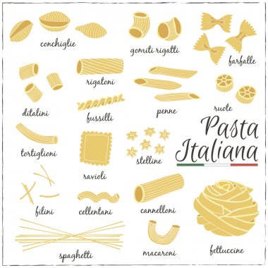 Italian Pasta collection drawings