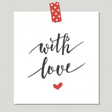 Cute Card With Love Design.