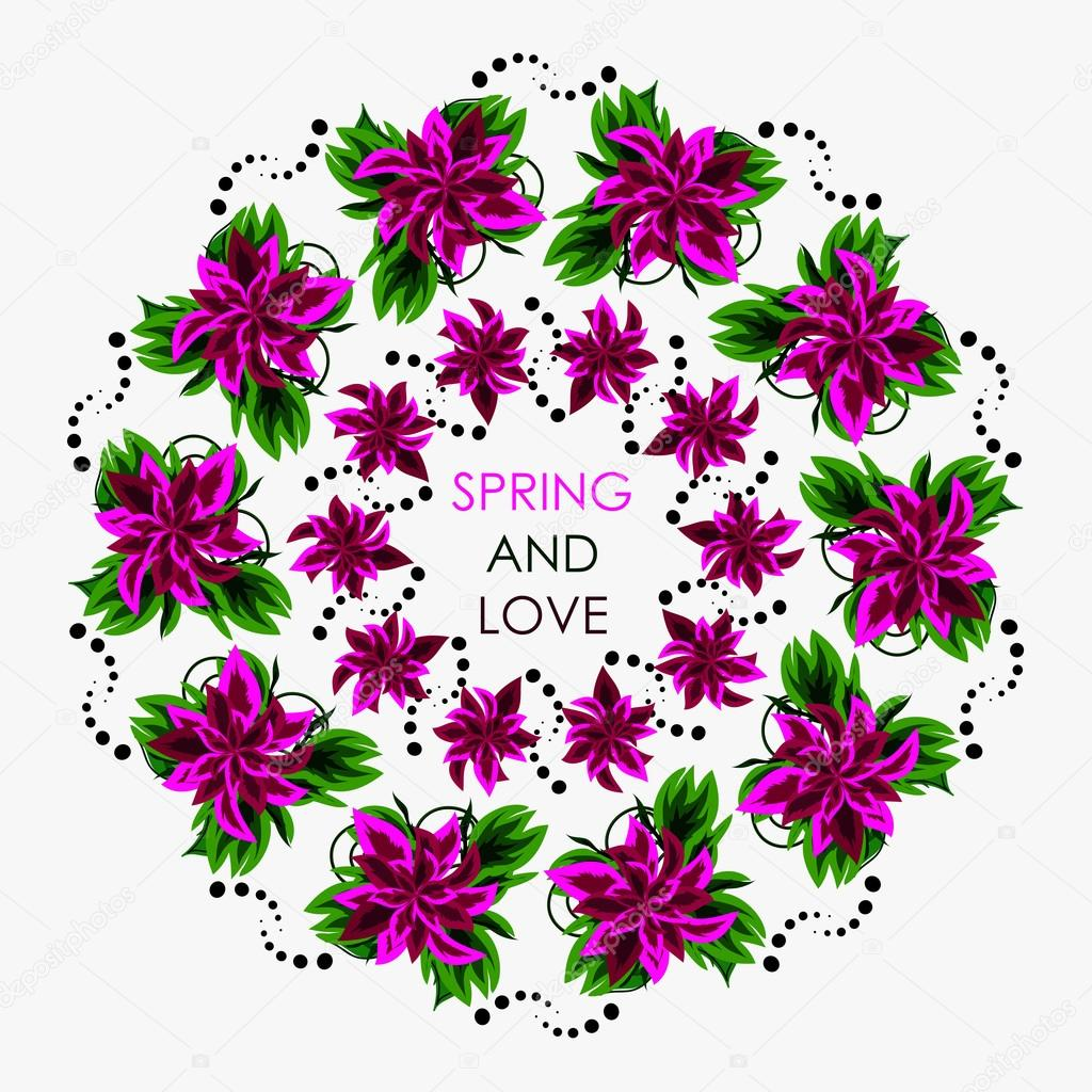 Mandala in colors for a good and positive spring. Can be use for