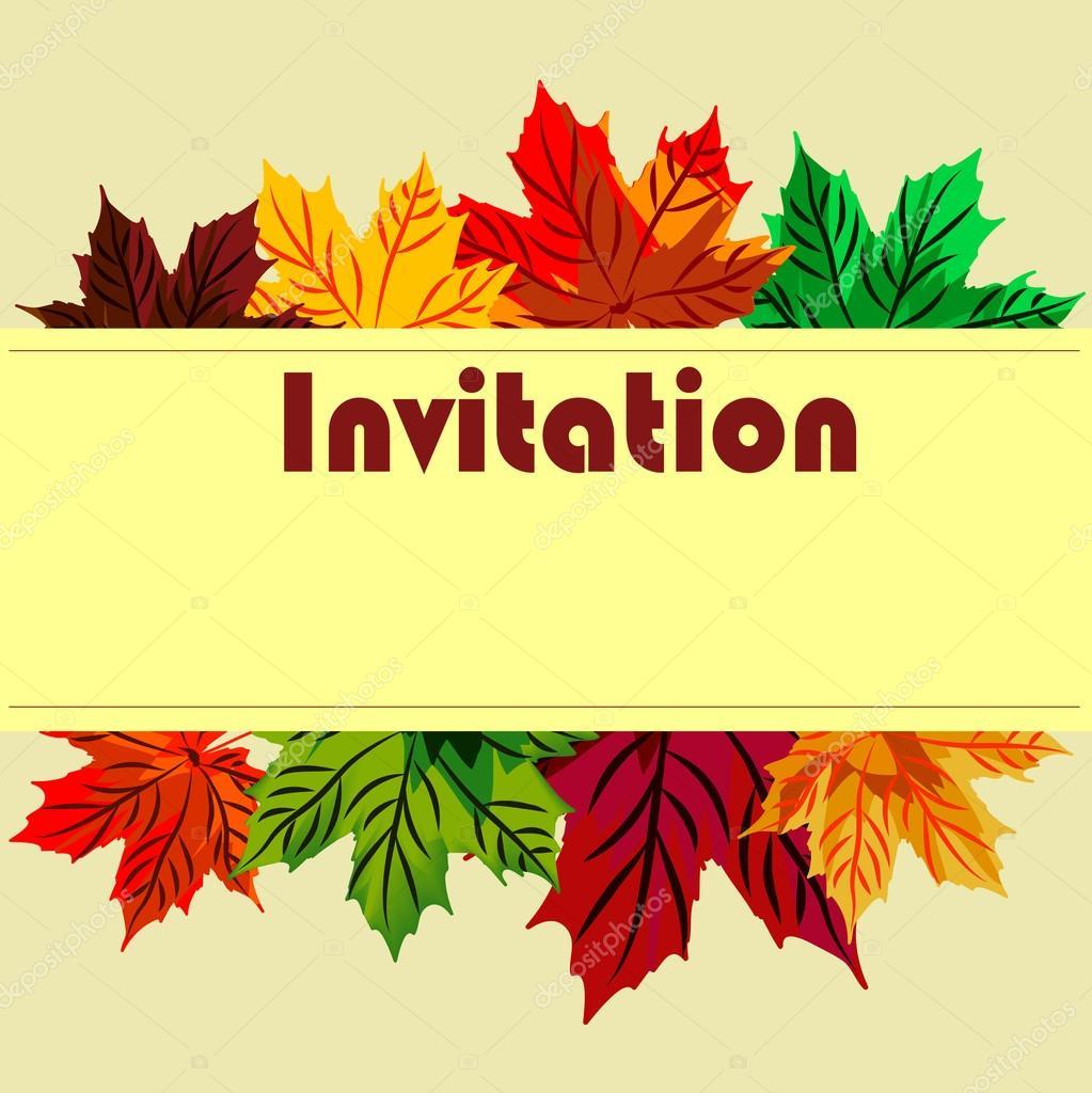Tarjeta De La Invitación En El Día De Acción De Gracias Con Lea