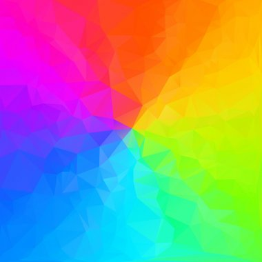 Colorful triangular gradient. Vector gradient triangle pattern.