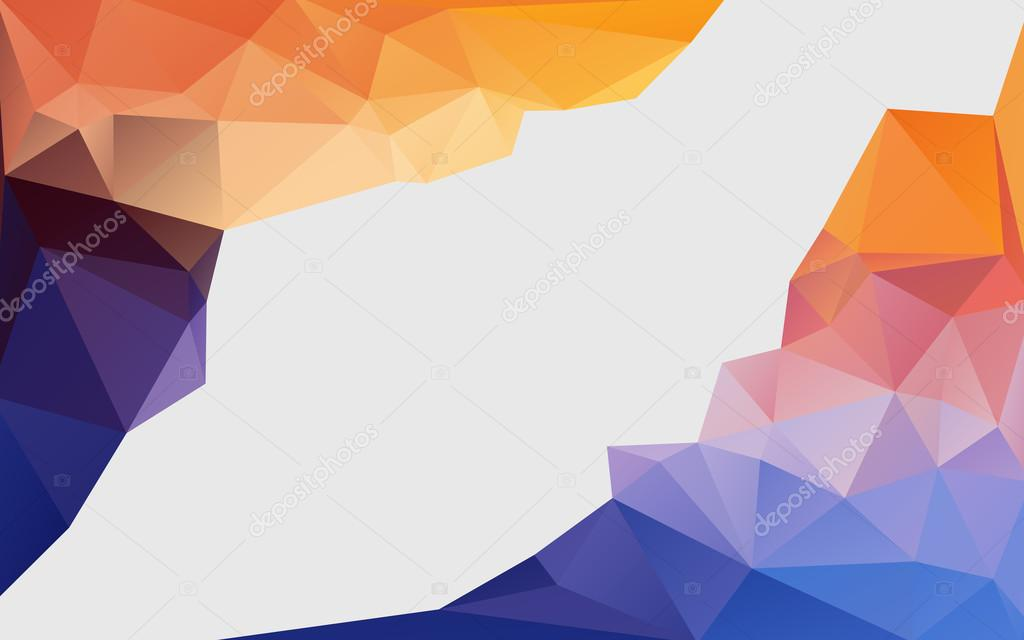 Abstract background with colorful polygons (triangle pattern)