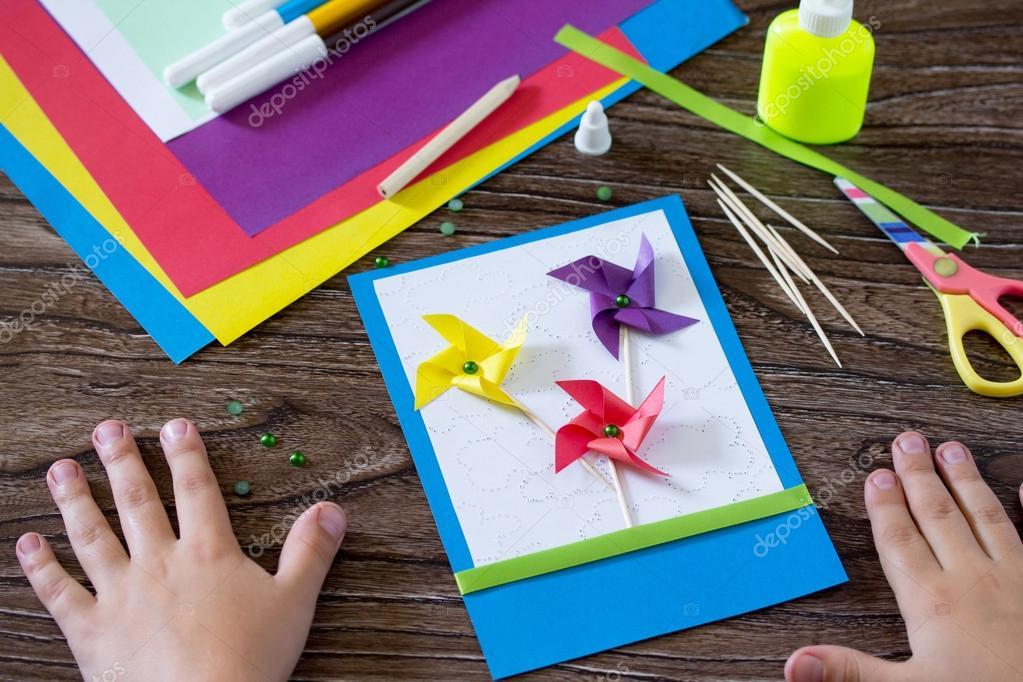 Bardzo dobra Kartki ręcznie robione urodziny, kwiaty i oddziałów. Dziecko sti ZP85