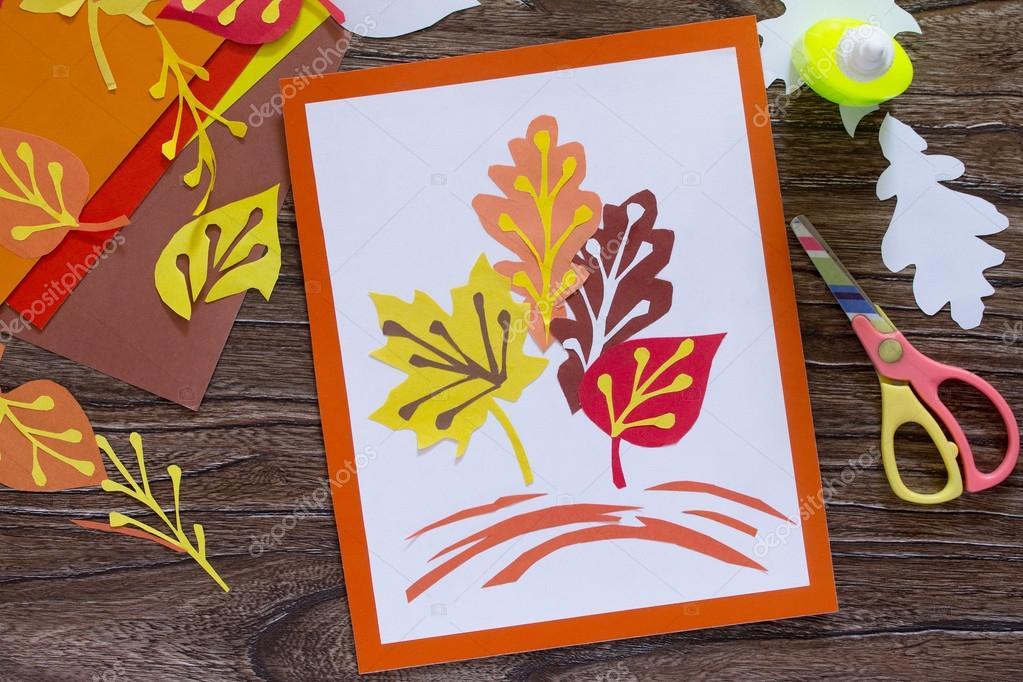 Imagenes Del Otono Para Ninos A Color Las Hojas De Otono De Papel