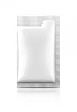Blank packaging foil sachet isolated on white background stock vector