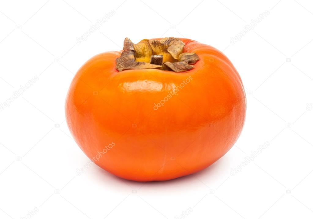 Persimmon Asian fresh fruit isolated on white background