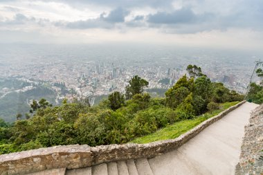 view from the top of the mountain, Monserrat mountain, Bogota, Colombia, Latin America