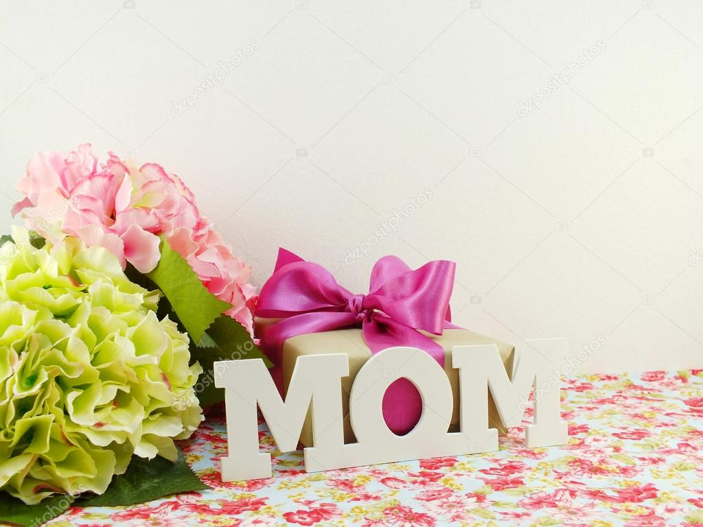 Gifts and beautiful bouquet of flowers for mom for mother day or gifts and beautiful bouquet of flowers for mom for mother day or birthday stock photo izmirmasajfo