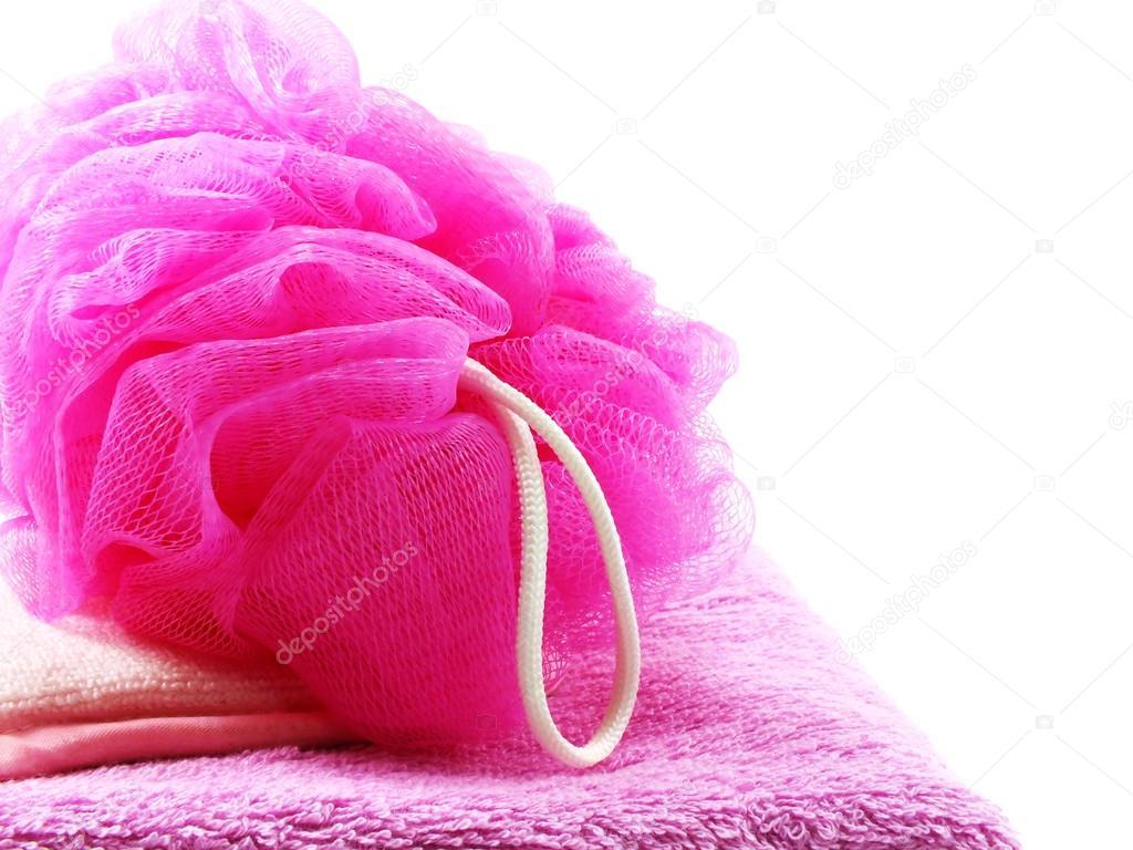 Vasca Da Bagno In Plastica : Soffio di plastica vasca da bagno e asciugamano su fondo bianco