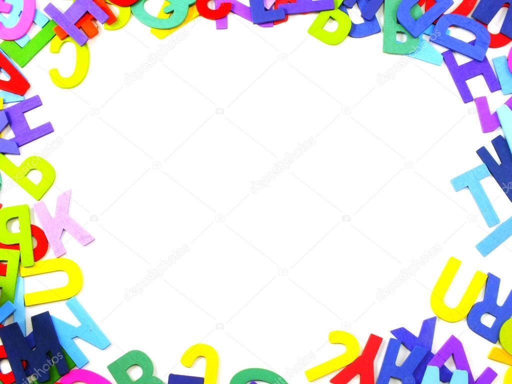 Colored alphabet letters abc on a white background — Stock Photo