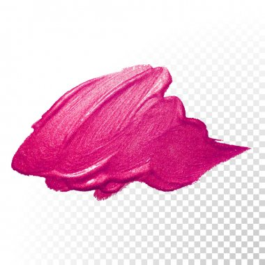 Pink watercolor brush abstract stroke. Vector oil paint. Polish smear