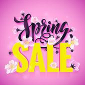 Fényképek Vektor tavaszi eladó poszter kézzel rajzolt cím
