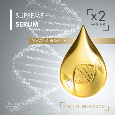 Supreme collagen oil drop essence with DNA helix