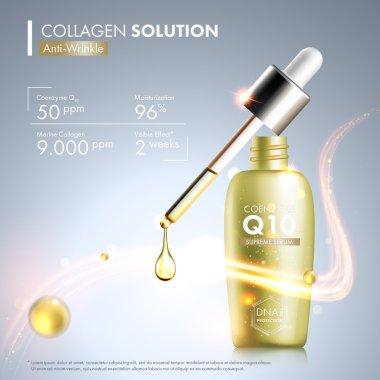 Coenzyme Q10 serum essence bottle