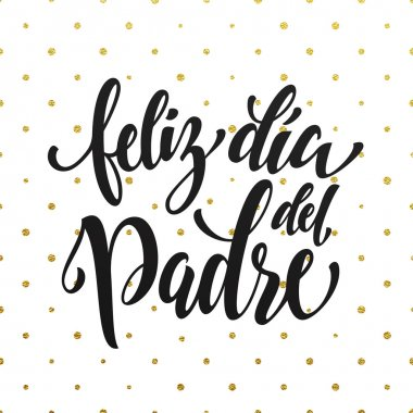 Feliz Dia del Padre Father Day greeting card in Spanish