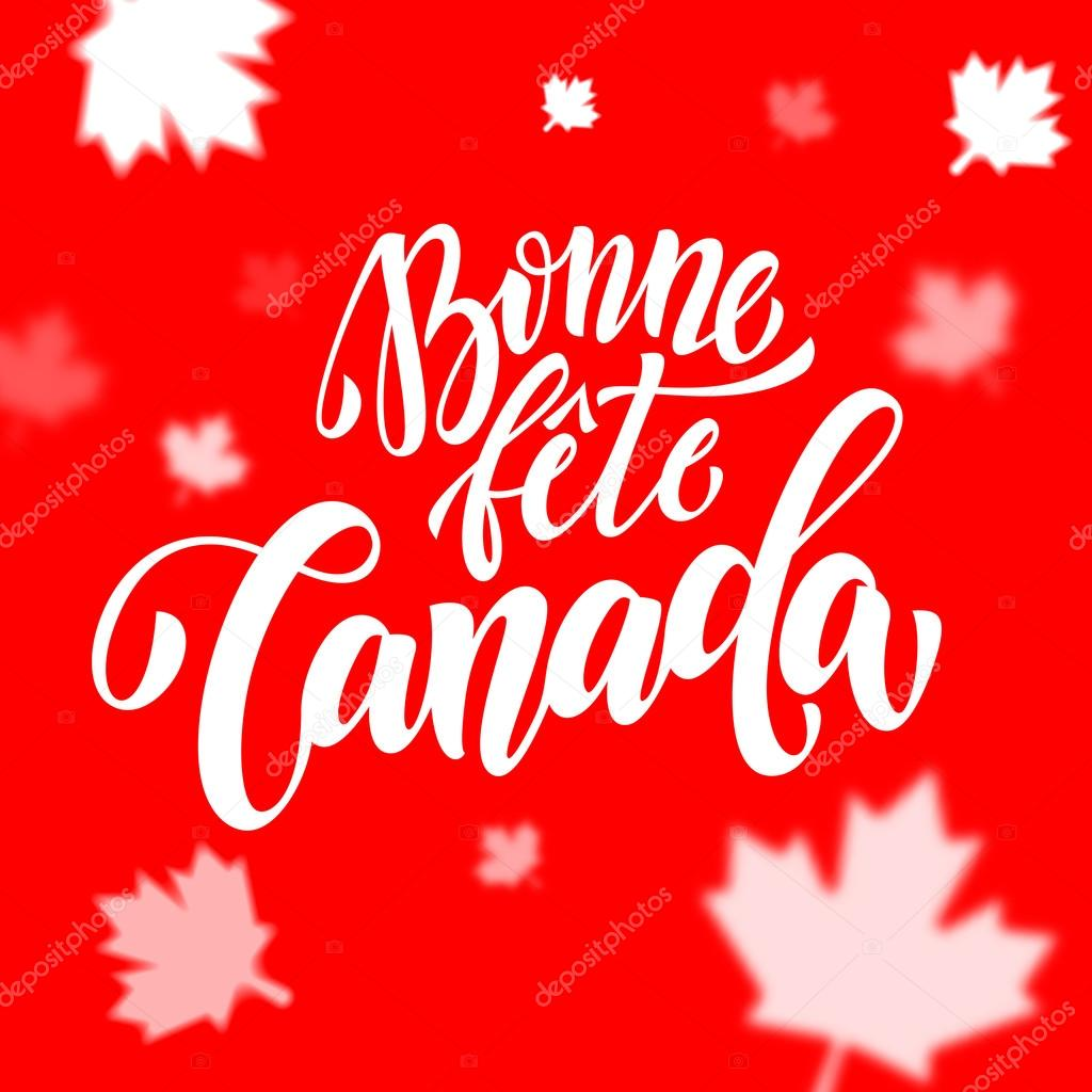 Bonne fete canada day greeting card in french stock vector bonne fete canada day greeting card in french stock vector m4hsunfo