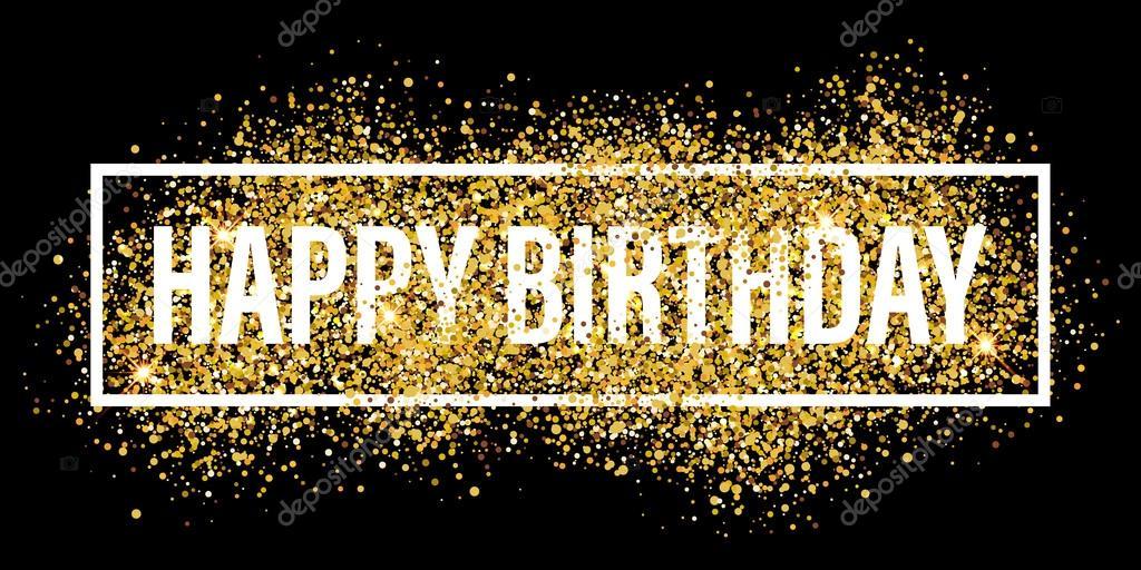 Verjaardag Glitter.Verjaardag Wenskaarten Gouden Glitter Flare Achtergrond