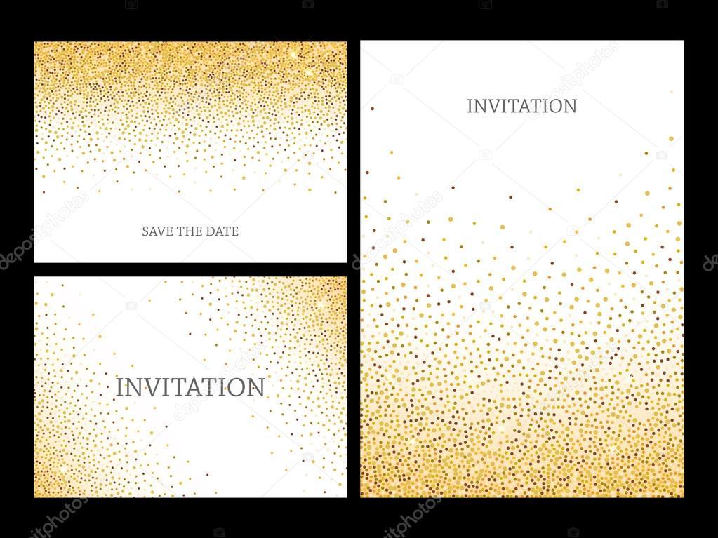 Marco de oro brillo confeti para fiesta tarjeta de felicitación ...