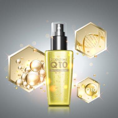 Gold oil serum skincare treatment