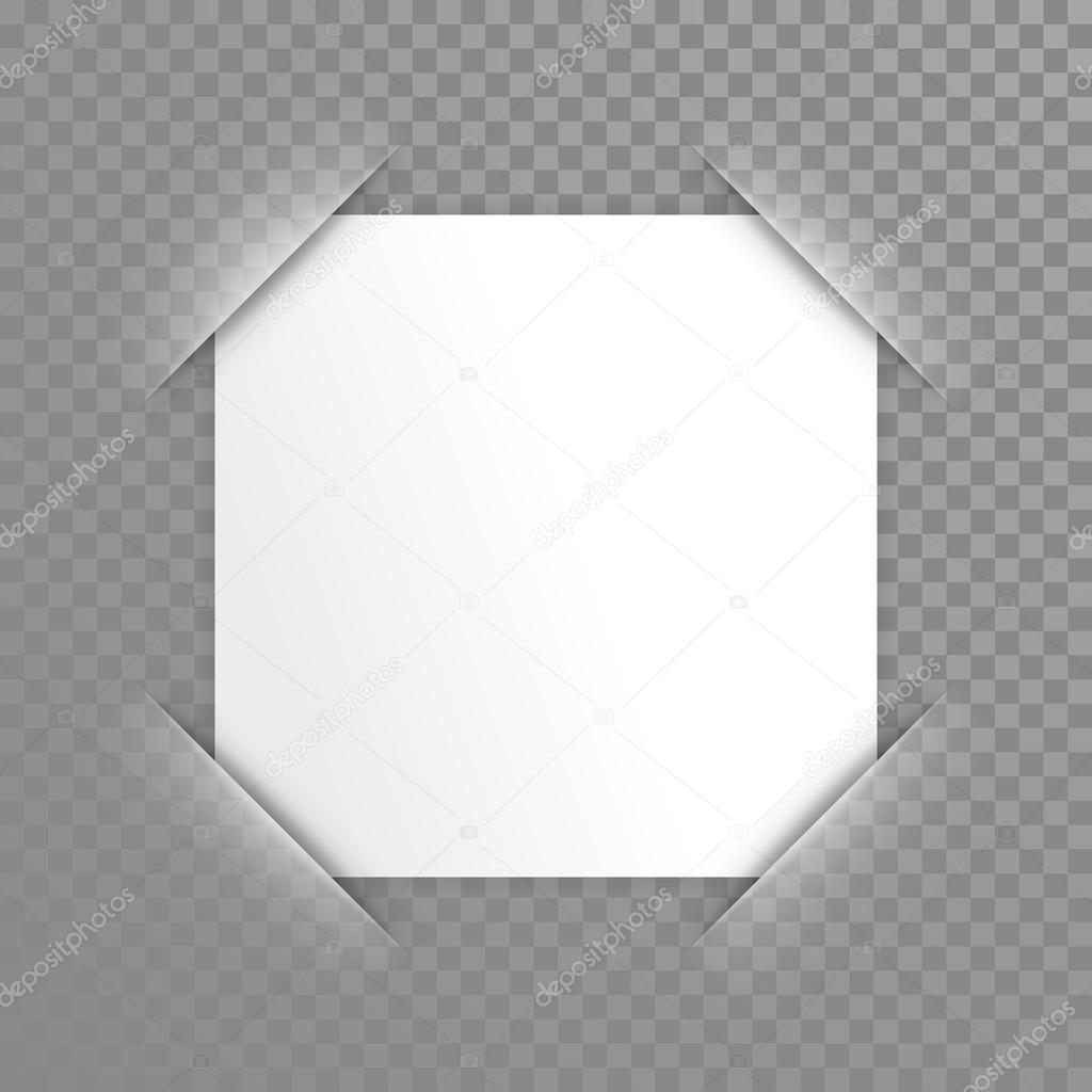 Vector Paper In Photo Frame Corner Stock Vector Ronedale 122380146
