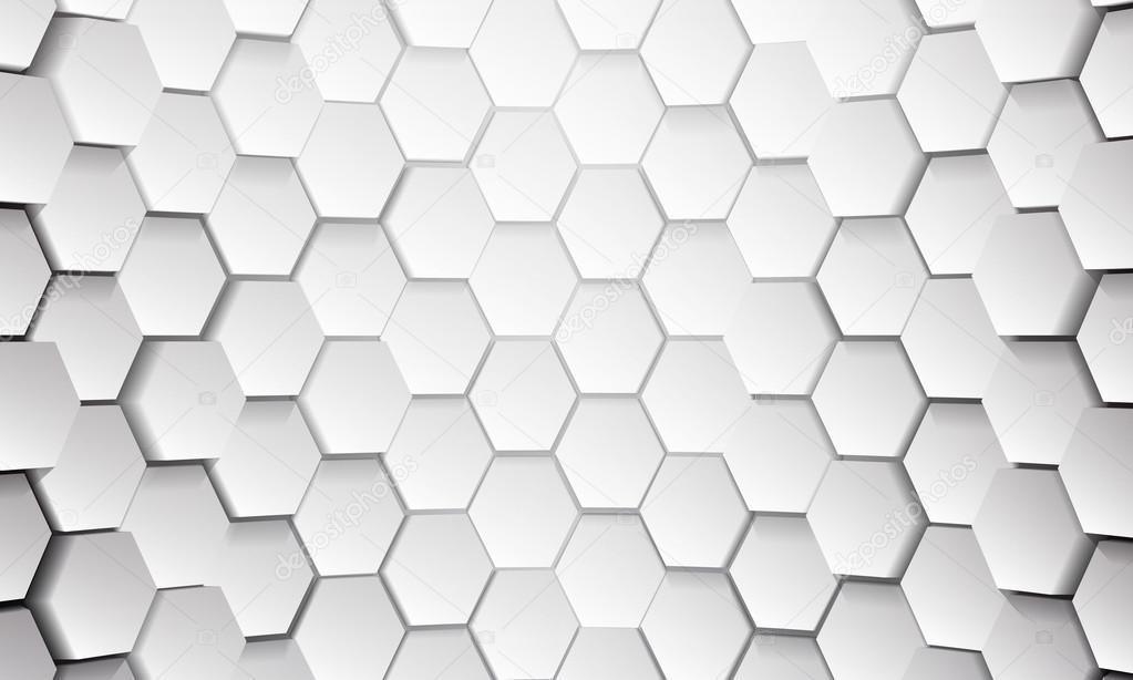 White tile of honeycomb shape plates background — Stock ...
