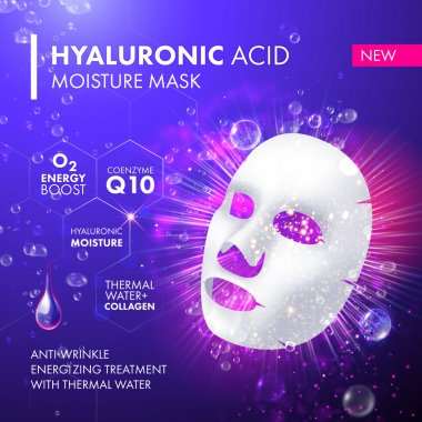 Collagen facial mask. Moisturizing serum